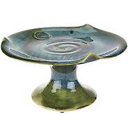 Colm De Ris Emerald Stoneware Cake Platter - H204607