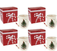 Spode Christmas Tree Set of 4 Mugs in Gift Boxes - H208807