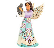 Jim Shore Heartwood Creek Pint Size Angel with Cat Figurine - H210807