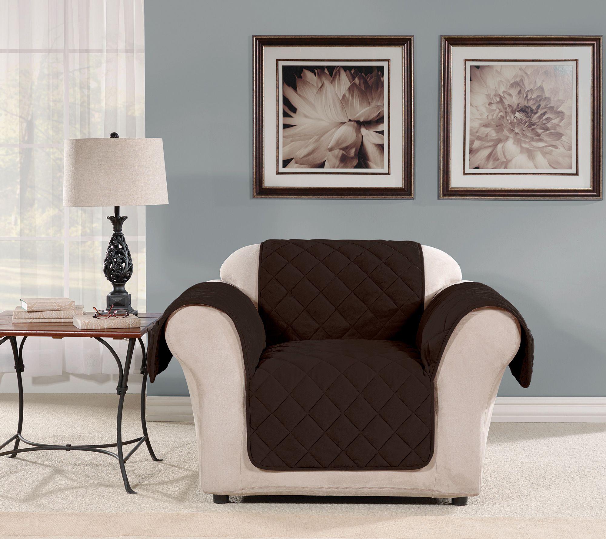 Sure Fit Chair Plush Comfort Waterproof Furniture Cover