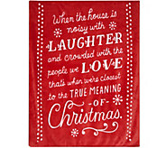 Hallmark 50 x 60 Heartfelt Holiday Quote Plush Throw - H212407