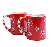 Temp-tations Snowflake Mugs - Set of 2 - H284107