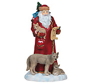 Limited Edition Santa with Wolves Figurine by Pipka - H286807