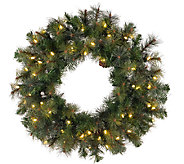72 Prelit Modesto Pine Wreath w/ LED Lights byVickerman - H287707