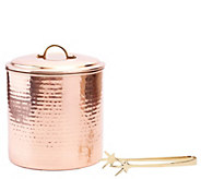 Old Dutch International Hammered Copper-PlatedIce Bucket Set - H288107