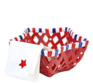 Temp-tations Red, White, and Blue Star-Shaped Bread Basket - H289107