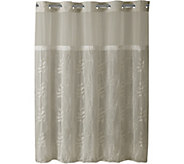 Hookless Palm Leaves Shower Curtain and Liner - H293707