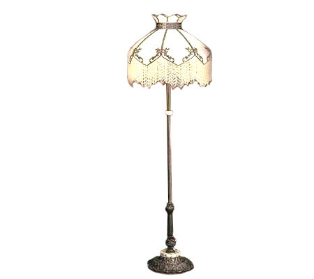 Victorian style 64quoth floor lamp qvccom for Victorian wooden floor lamp