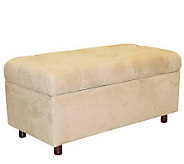 Skyline Furniture Ultrasuede Storage Ottoman - H135208