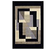 Momeni New Wave Geometric 36 x 56 HandmadeWool Rug - H161708