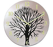 Topiary - 14 Glass Wall Clock - H187608