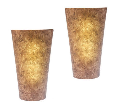 Set Of Two Vivid Battery Powered Wall Sconce