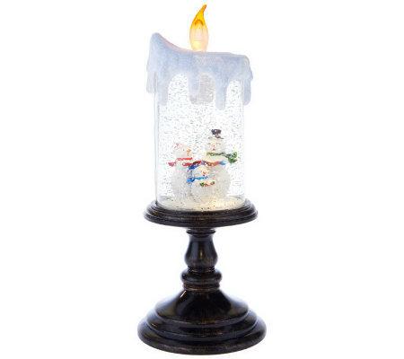 bethlehem lights battery op holiday scene pedestal candle. Black Bedroom Furniture Sets. Home Design Ideas