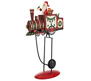 Plow & Hearth Small Balancer with Santa on Train - H203208