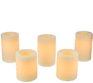 Set of 5 Candle Impressions Poinsettia Embossed Candles - H205808