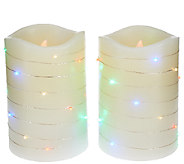As Is Lightscapes (2) 5 Swirl Light Pillar FlamelessCandle - H207508