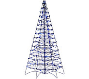 As Is Pre-Lit LED 5 Fold Flat Outdoor Christmas Tree by Lori Greiner - H208408