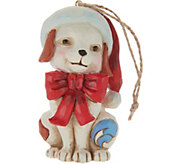 Jim Shore Heartwood Creek Puppy with Santa Hat Ornament - H212508