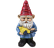 Exhart 13 Gnome Holding Bird - H285008