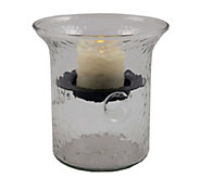 Pacific Accents 4 Camden Hammered Glass Fillable Hurricane - H289608