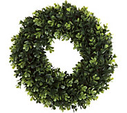Pure Garden 14 Round Boxwood Wreath - H291708