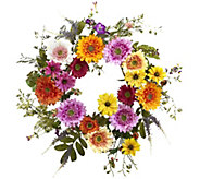 26 African Sunflower Wreath by Nearly Natural - H295608