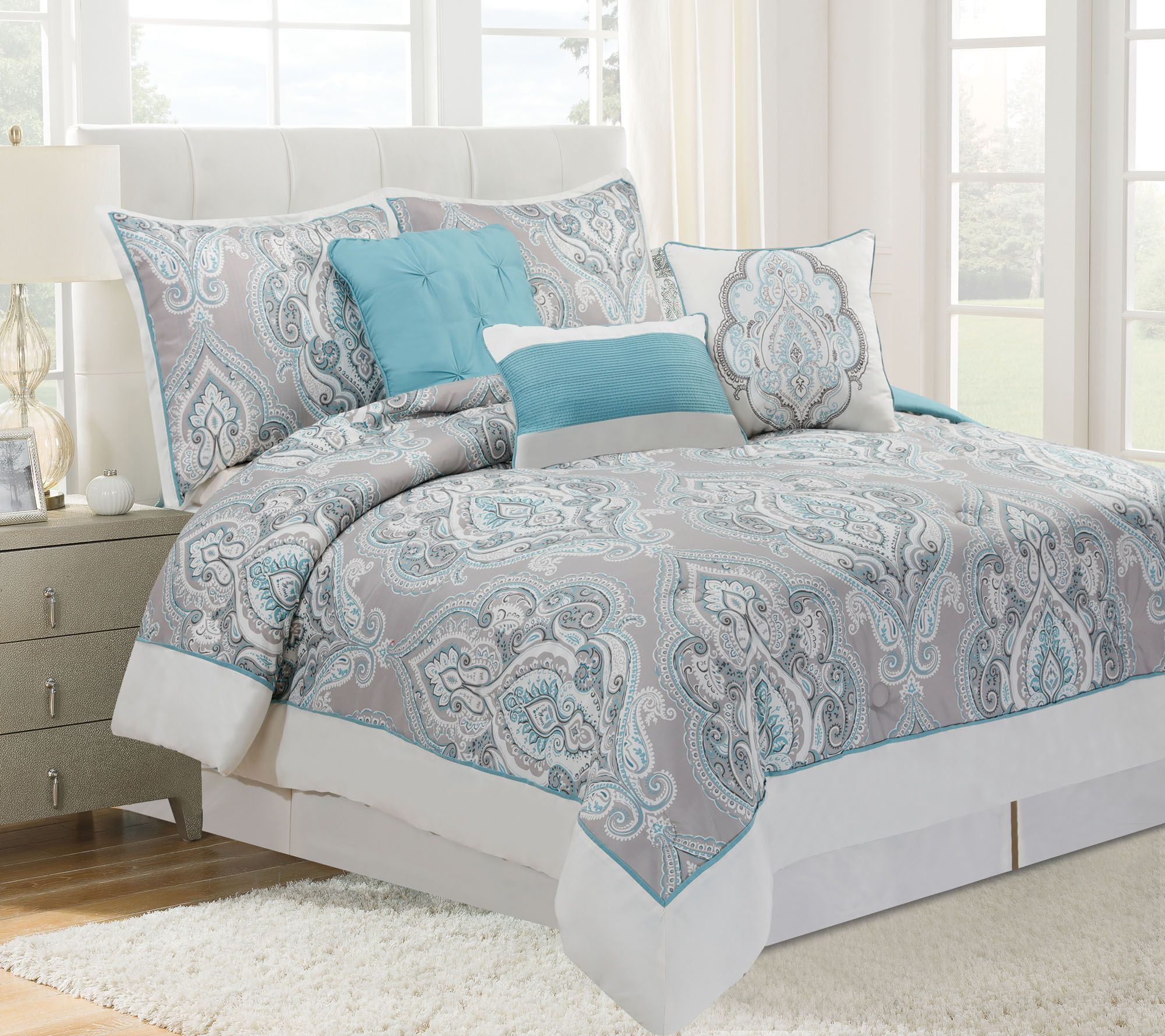 Home Reflections Damask forter Set Page 1 — QVC
