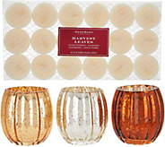 HomeWorx by Harry Slatkin Set of 3 Glass Votives with Tealights - H211409