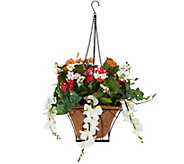 As Is Bethlehem Lights Prelit Wistera Hanging Basket w/ Timer - H212909