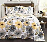 Leah 3-Piece Full/Queen Quilt Set by Lush Decor - H288009