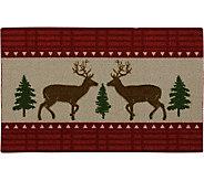Nourison Enhance 17 x 28 Woodland Christmas Reindeer Rug - H293109