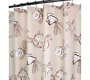 Watershed 2-in-1 Sea Life 72x72 Shower Curtain - H349409