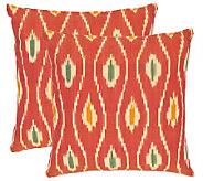Safavieh Set of 2 18x18 Iris Printed Ikat Design Pillows - H360609