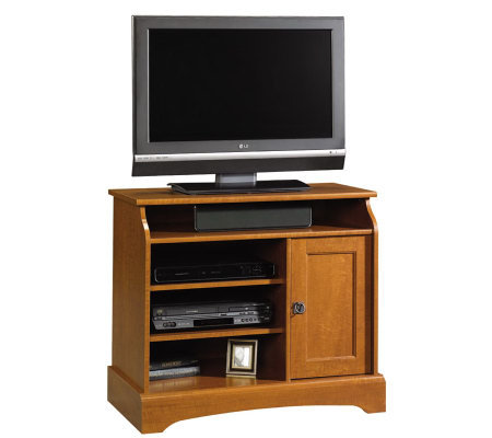 Sauder Graham Hill Highboy TV Stand - Autumn Maple Finish