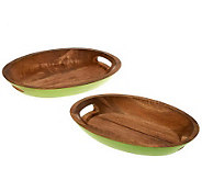 Latina Set of 2 Mango Wood Serving Trays - H196910