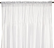 Dennis Basso Set of 2 62 Sheer Pleated Curtains - H202410