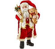 Dennis Basso 18 Elegant Faux Fur Standing Santa - H203410