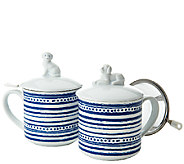 ED On Air S/2 Figural Porcelain Tea Cups by Ellen DeGeneres - H204810