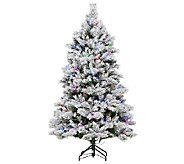 As Is E.D. On Air 6.5 Flocked Sheerwood Spruce Tree - H205110