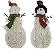 Set of 2 Sweater Knit Snowmen by Valerie - H205310