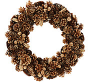 16 Shimmering Forest Pinecone Wreath - H206610