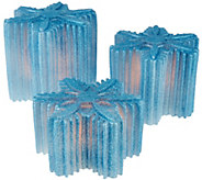 As Is Set of 3 Illuminated Snowflakes by Valerie - H207510