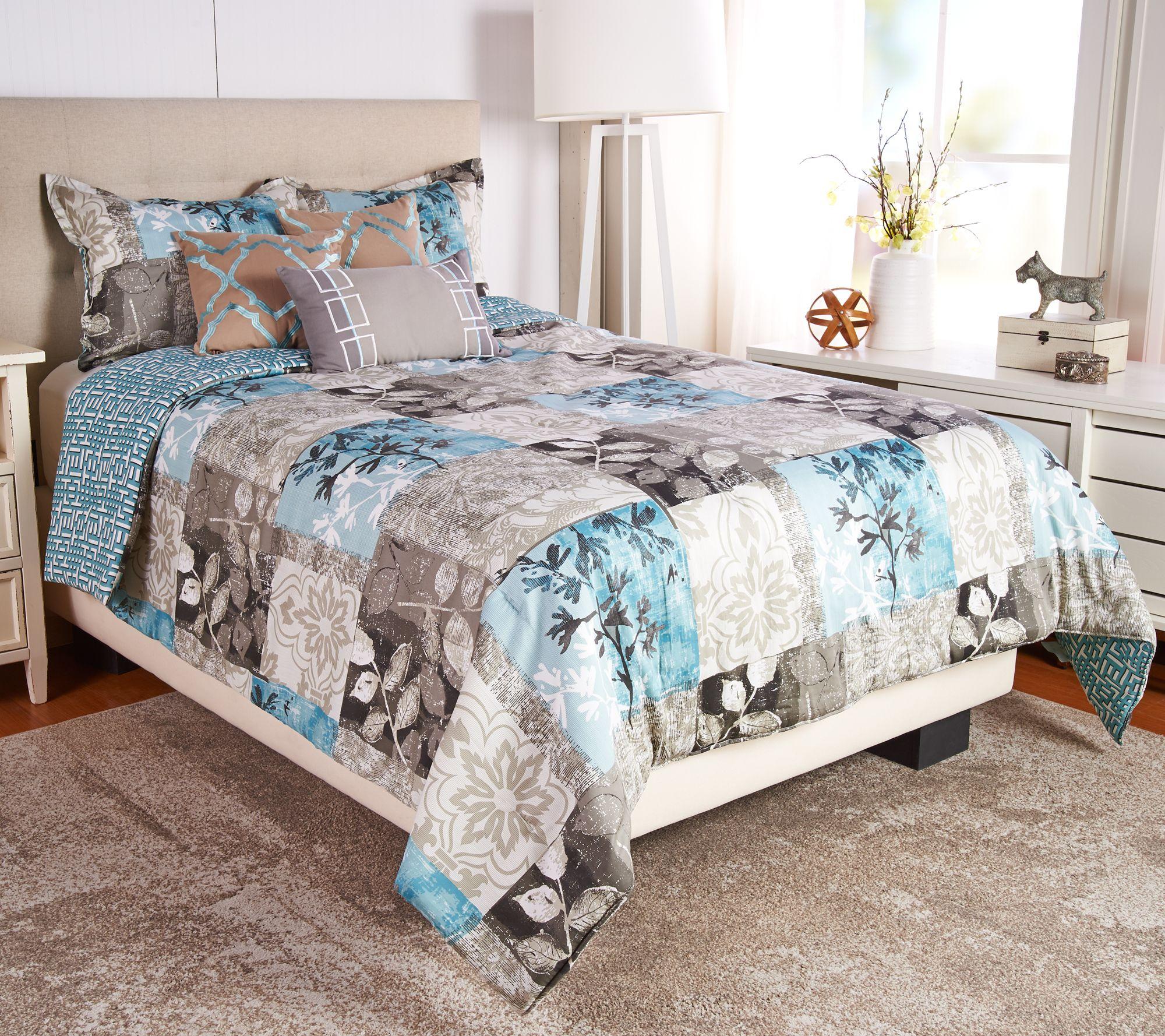 Scott Living Seattle 6pc Reversible Full Comforter Set