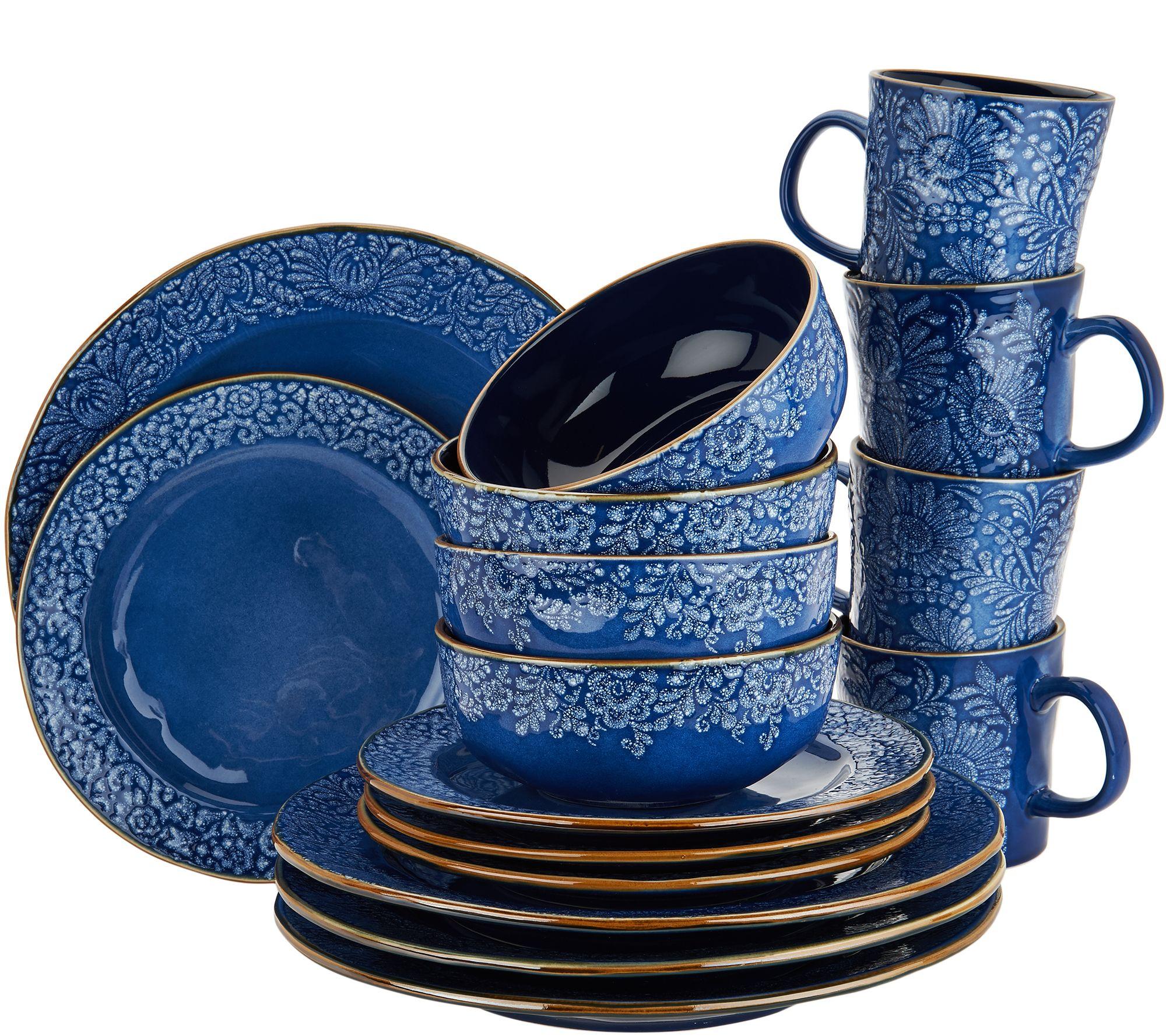 Cooku0027s Essentials Charlotte 16 Pc Ceramic Dinnerware Set   H211110