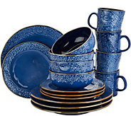 Cooks Essentials Charlotte 16-pc Ceramic Dinnerware Set - H211110