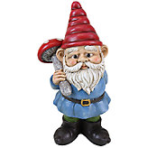 Exhart 13 Gnome Holding Mushroom - H285010
