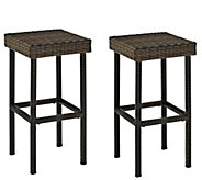 Palm Harbor Outdoor Wicker 24 Counter Height Stools, Set of 2 - H289510
