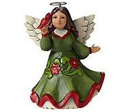 Jim Shore Heartwood Creek Pint-Sized Angel withCardinal - H290210