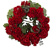 17 Geranium Wreath by Nearly Natural - H295610