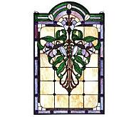 Meyda Tiffany-Style Flower Window Panel - H124411